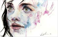 visage à l'aquarelle par Agnès Cécile                                                                                                                                                      Plus