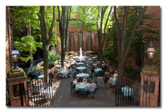 Lancaster, PA's Most romantic hidaway: Steinman Park is part of The Pressroom Restaurant's seasonal, al fresco dining     QUAINT!!!! Its lit up with tiny twinkly white lights at night. DATE NIGHT!