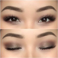 Make up for Asian eyes. Episode with … – Prom Make-Up Ideas Prom Eye Makeup, Asian Eye Makeup, Simple Eye Makeup, Eye Makeup Tips, Smokey Eye Makeup, Asian Smokey Eye, Smoky Eye, Asian Bridal Makeup, Makeup Ideas
