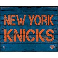 New York Knicks 11'' x 14'' Rustic Option Wall Décor - Royal Blue