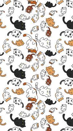 Katzenliebhaber Wallpaper Katzen Haustiere niedlich - - My best shares Wallpaper Gatos, Cat Phone Wallpaper, Cute Cat Wallpaper, Kawaii Wallpaper, Cute Wallpaper Backgrounds, Cute Cartoon Wallpapers, Pretty Wallpapers, Screen Wallpaper, Iphone Wallpapers
