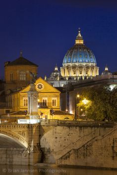 Basilica San Pietro Dome, Rome Lazio Italy. © Brian Jannsen Photography
