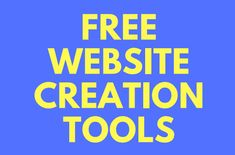 """Enter your name and email below to downloadthe """"Free Website Creation Tools PDF"""" Related"""