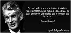 """13 abril 1906 #TalDíaComoHoy nació el escritor irlandés Samuel Beckett, Nobel #Literatura 1969 ~ """"Esperando a Godot"""""""