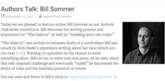 New Authors Talk: Bill Sommer   Check it out here- http://blog.superstitionreview.asu.edu/2017/09/12/authors-talk-bill-sommer/