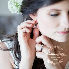 Modern and very elegant earrings handmade by Kathleen Barry - Online boutique Shipping worldwide, custom orders welcome - Real Bride: Karla Silver Drop Earrings, Crystal Drop, Handmade Design, Bridal Accessories, Earrings Handmade, Classic Style, Brides, Jewelry Design, Boutique