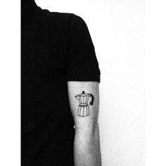 Geometric moka pot tattoo