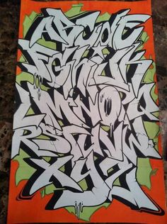 Grafitti Alphabet, Graffiti Alphabet Styles, Graffiti Lettering Alphabet, Graffiti Writing, Tattoo Lettering Fonts, Graffiti Font, Graffiti Tagging, Graffiti Styles, Typography Art