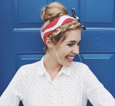 High bun with head band by Abigail Rose