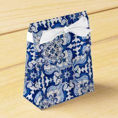 Vintage Azulejo Tile Pattern Party Favor Boxes