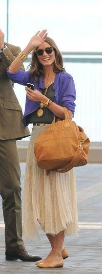 Shirt and skirt - Topshop Jewelry - Carrera y Carrera Purse - Givenchy Givenchy NIGHTINGALE MEDIUM BAG GIVENCHY Nightingale Embossed Detail Medium in Black similar style skirt by the same designer Metallic Pleat Calf Skirt