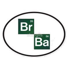 Breaking Bad Oval BR BA Sticker Heisenberg