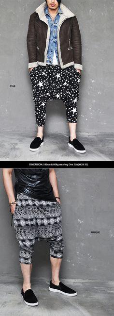 Cool Summer Breeze Cut off Print Mens Fashion Baggy-Sweatpants.com