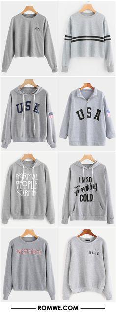 grey sweatshirts from romwe.com