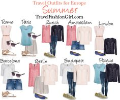 Travel outfit ideas for traveling or backpacking Europe in Summer