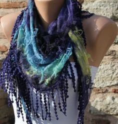 Wonderful Scarf Trend Scarves by Fatwoman on Etsy