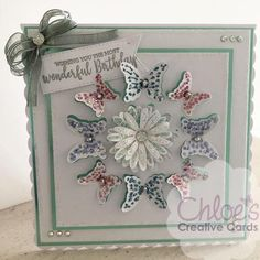 Cut and Emboss by Chloe Folder & Dies Blooming Daisies - - Cut and Emboss by Chloe - Chloes Creative Cards Beautiful Birthday Cards, Birthday Cards For Women, Handmade Birthday Cards, Chloes Creative Cards, Creative Christmas Cards, Stamps By Chloe, Create And Craft Tv, Snowflake Cards, Cardmaking And Papercraft
