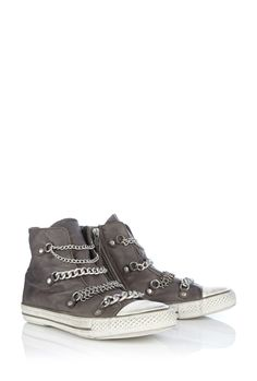 Ash val chain hightop - Not technically converse but they're gorgeous! Sock Shoes, Cute Shoes, Me Too Shoes, Shoe Boots, Shoe Bag, Ash Sneakers, Shoes Sneakers, Shoes Heels, Boots With Leg Warmers