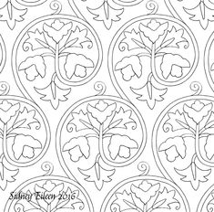 Freehand blackwork embroidery patterns, all appropriate for 16th and early 17th century style freehand blackwork embroidery, especially English style.