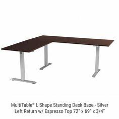 Jarvis3 Powdercoat LShaped Standing Desk Fully Fully Catalog