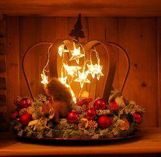 Weihnachtsdeko Krone von Claudia`s Geschenkparadies auf DaWanda.com