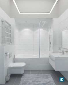 Bathroom Renos, Small Bathroom, Master Bathroom, Living Room Canvas, Contemporary Bathrooms, Bathtub, House Styles, Design, Washroom