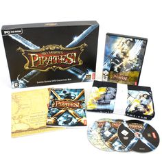 Sid Meier's Pirates Limited Collectors Edition for PC, T-shirt, 2006, VGC, CIB