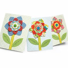 Spring Flowers Collage Card - cute for Mum!
