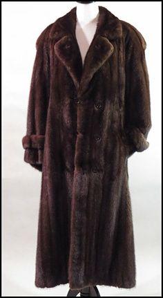 Men's Full Length Brown Mink Coat : Lot 129-9374 #mink #furcoat #couture #menswear