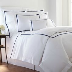 Hand embroidered bed linens by Léron. View all of our custom hand embroidered sheets and contact us to find out more. Neutral Bed Linen, Embroidered Bedding, Bed Linen Design, Bed Linen Sets, Luxury Bedding Sets, Hotel Style Bedding, Chic Bedding, Boho Bedding, Design Your Home