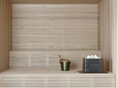 Saunaheater by Tulikivi. Blinds, Studios, Curtains, Home Decor, Rolling Shutter, Insulated Curtains, Shades Blinds, Draping, Home Interior Design