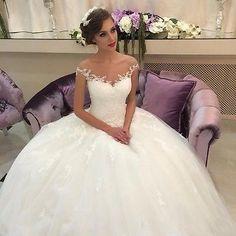 De hombro vestido de boda Adorno De Vestido De Novia Blanco Marfil Talla 6 8 10 12 14 16