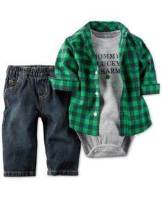 Carter's Baby Boys' 3-Piece Shirt, Bodysuit & Pants Set - Sets - Kids & Baby - Macy's