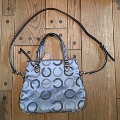 COACH Signature Bag, Grey/Multi, PERFECT COACH Signature Bag, Grey/Multi, PERFECT CONDITION Tags not attached but included Coach Bags