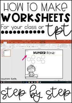 Step-by-step tutorial for making worksheets for you classroom or TpT!