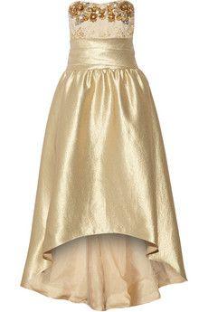 Marchesa Notte Lamé gown  | THE OUTNET