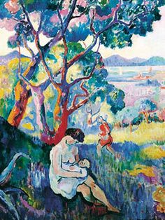 Saint-Tropez Seen from the Villa Demière by Henri Manguin (1906) Raoul Dufy, Breastfeeding Art, Modern Artists, French Artists, Renaissance Art, Vintage Artwork, Renoir, André Derain, Henri Matisse