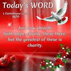 Today's Word...1 Corinthians 13:13