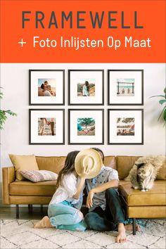 Upload je foto en ontwerp een lijst op maat. Framewell doet de rest! Gallery Wall, Windows, Living Room, Interior, Frame, Prints, Couple, Home Decor, Picture Frame