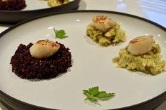 St Jacques, poireau et riz venere - Nath' Chocolat