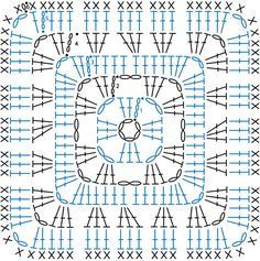 several free patterns (written + chart) for granny square, gra . : several free patterns (written + chart) for granny square, free pattern (English, described + schedule) for granny square, crochet pattern Motifs Granny Square, Granny Square Pattern Free, Crochet Blocks, Granny Square Crochet Pattern, Crochet Diagram, Crochet Squares, Crochet Granny, Crochet Motif, Crochet Doilies