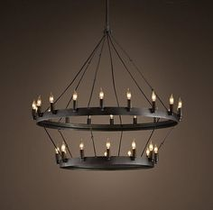 large round candle chandelier - Google Search