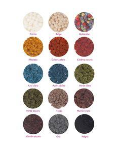 Alfombra con colores lisos, fabricada en 100% pura lana virgen. Medida ancho máximo de 2 metros. Crevillente, Alicante, España