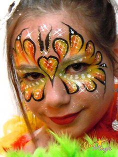 vlinder schminken stap 6