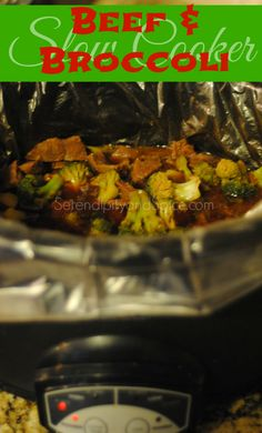 Slow Cooker Beef and Broccoli Have dinner ready when you get home!  Just add rice and dinner is served!