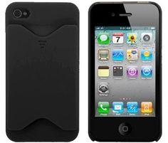 Clearance  iPhone 4/4S  ID Card Holder Case (Black). BUY now for $3.95 only! Reg 9.95