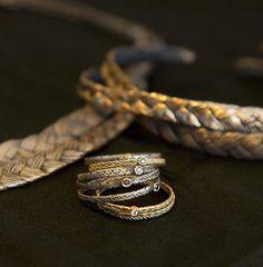 Iceland Jewelry Finds, Number 7: Orrifinn by Orri Finnbogason and Helga Gvuðrún Friðriksdóttir #artjewelry #contemporaryjewelry #jewelry #rings #necklace #bracelet #braids #iceland #orrifinnjewels