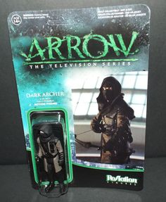 Funko ReAction TV Series Arrow DARK ARCHER 3 3/4 inch Action Figure NEW! #FUNKO