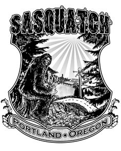 Sasquatch does Portland, Oregon.