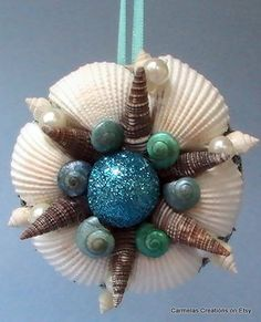 Petite sweet beach ornament by CarmelasCreations on Etsy